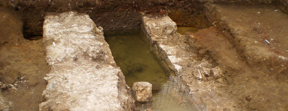 Medieval drain<br />similar to those<br />in monasteries